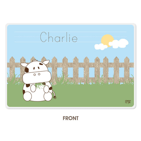 Personalized Kids Placemat - Cow