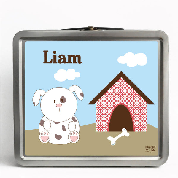 Personalized Tin Lunch Box - Dog