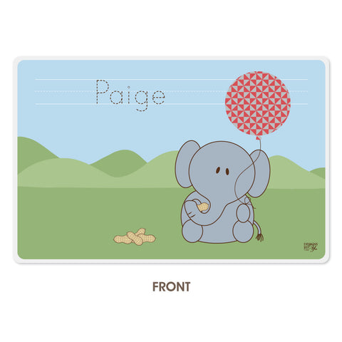 Personalized Kids Placemat - Elephant