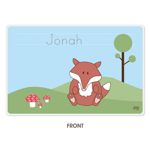 Personalized Kids Placemat - Fox