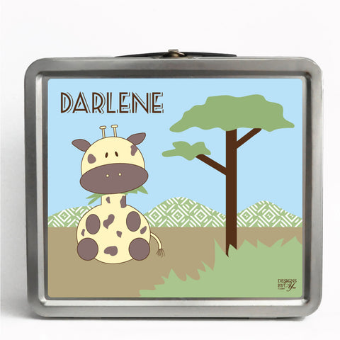 Personalized Tin Lunch Box - Giraffe