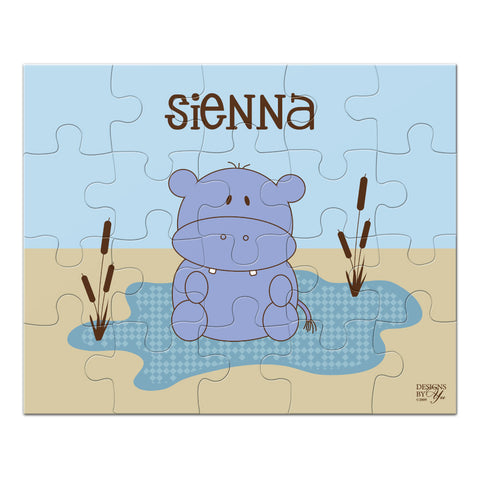 Personalized Puzzle - Hippo