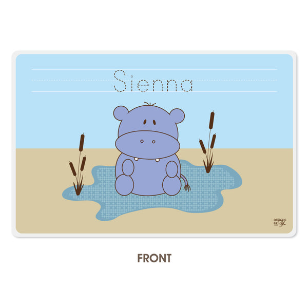 Personalized Kids Placemat - Hippo