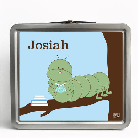 Personalized Tin Lunch Box - Inchworm