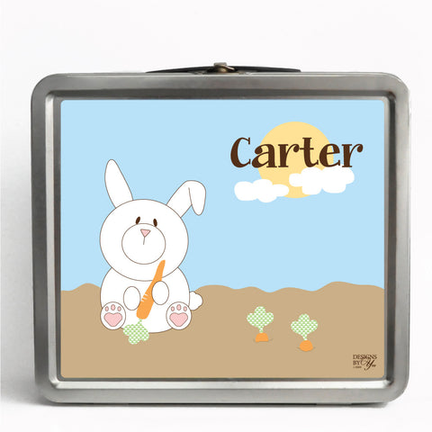 Personalized Tin Lunch Box - Jack Rabbit