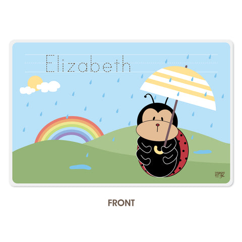 Personalized Kids Placemat - Ladybug