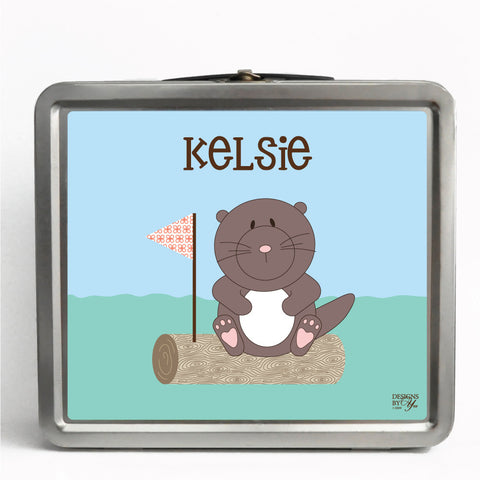 Personalized Tin Lunch Box - Otter