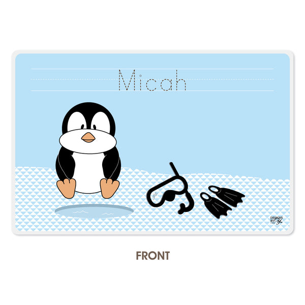 Personalized Kids Placemat - Penguin