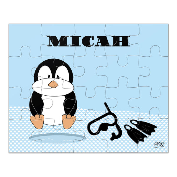 Personalized Puzzle - Penguin