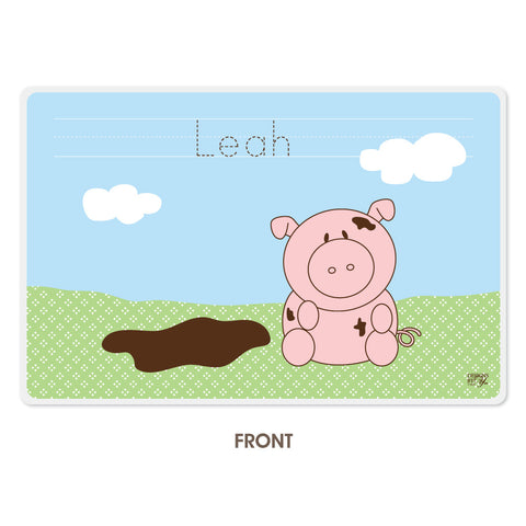Personalized Kids Placemat - Piggy