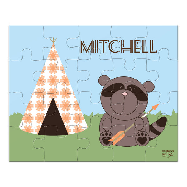 Personalized Puzzle - Raccoon