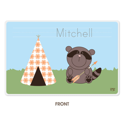 Personalized Kids Placemat - Raccoon