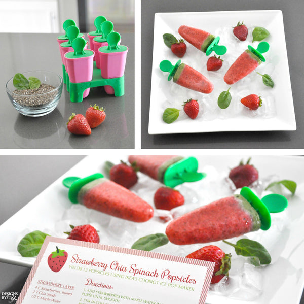 Recipe Card - Strawberry Chia Spinach Popsicles