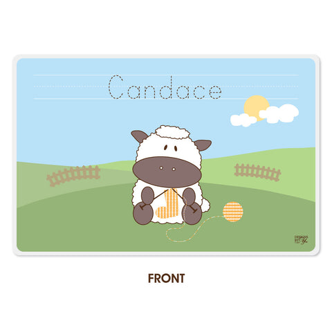 Personalized Kids Placemat - Sheep