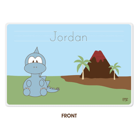 Personalized Kids Placemat - Stegosarus