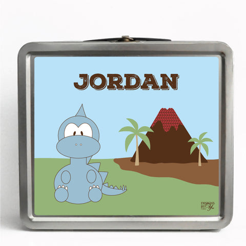 Personalized Tin Lunch Box - Stegosaurus