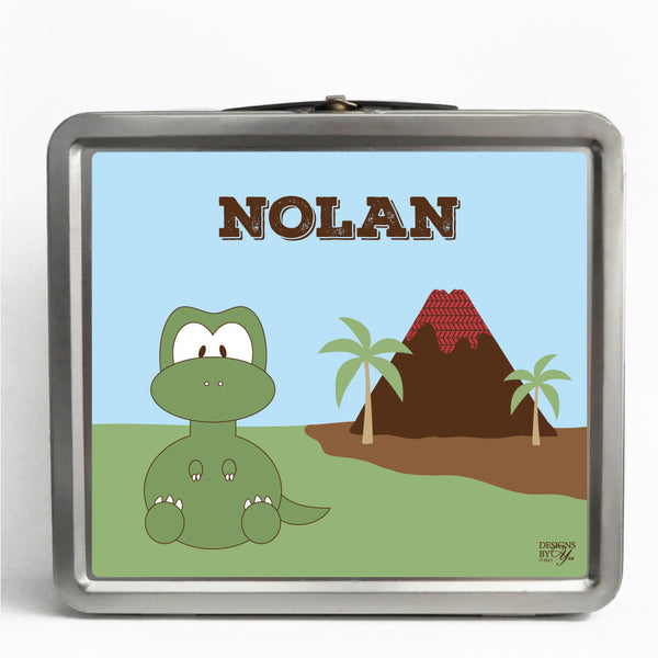 Personalized Tin Lunch Box - T. Rex