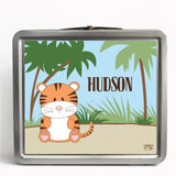 Personalized Tin Lunch Box - Tiger