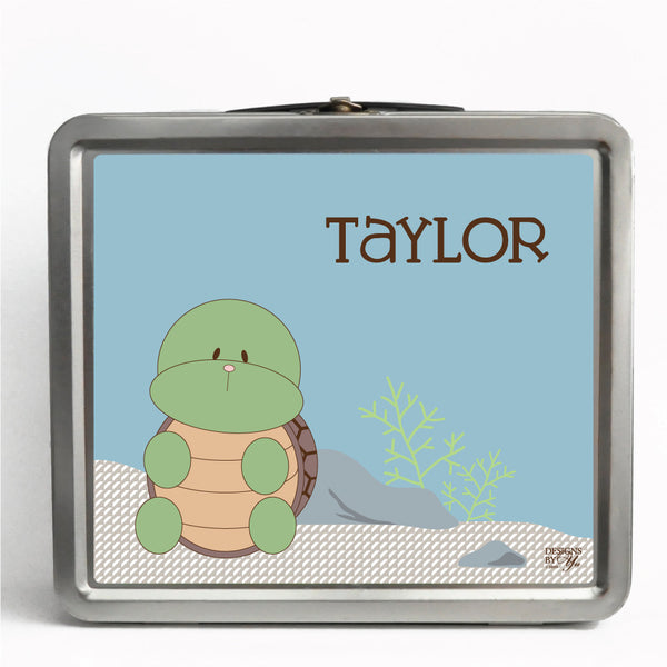 Personalized Tin Lunch Box - Turtle