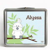 Personalized Tin Lunch Box - Umbrella Cockatoo