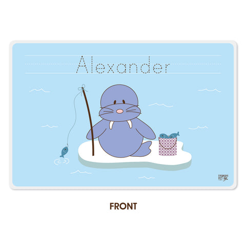 Personalized Kids Placemat - Walrus