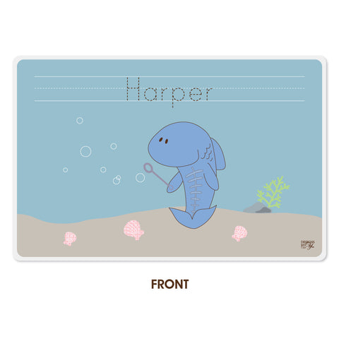 Personalized Kids Placemat - X-ray Fish