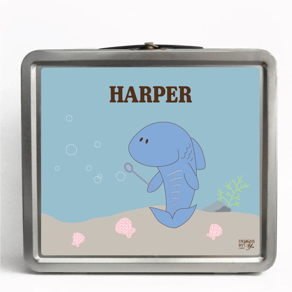 Personalized Tin Lunch Box - X-ray Fish