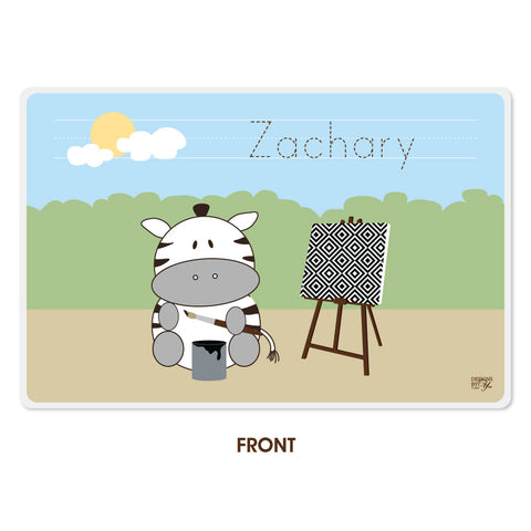 Personalized Kids Placemat - Zebra