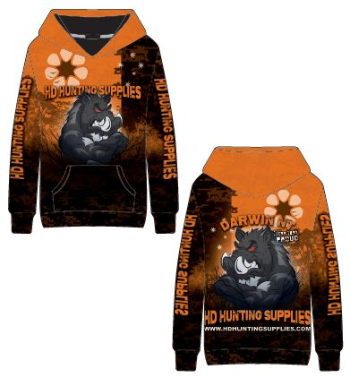 SPECIAL Orange HD Hunting Jumper with Pockets