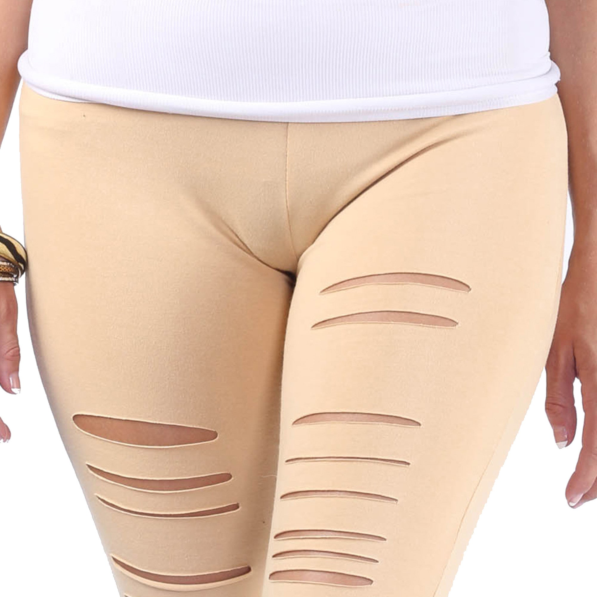 Distressed Fashion Leggings