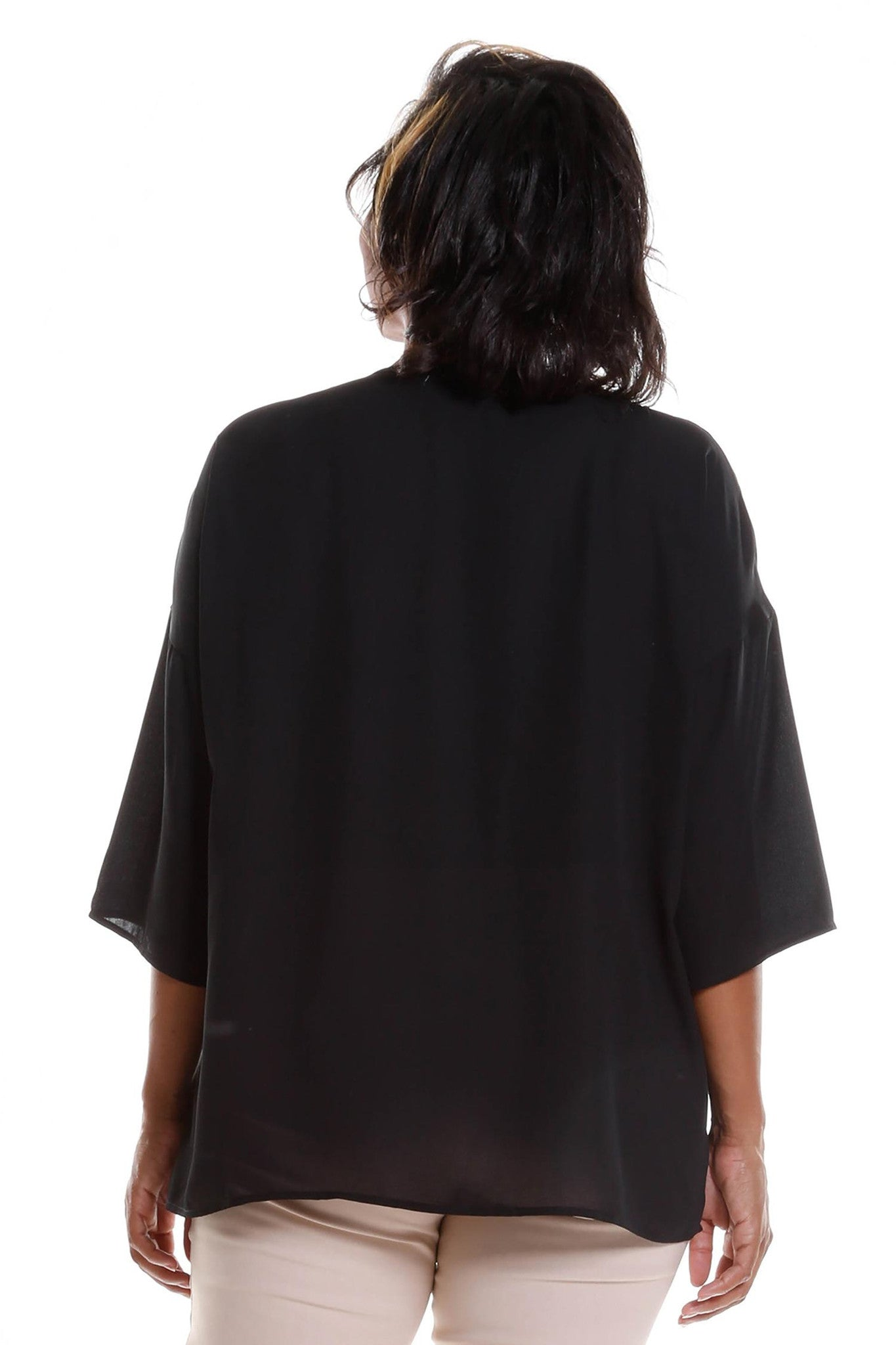 Plus Size Casual Dolman Blouse