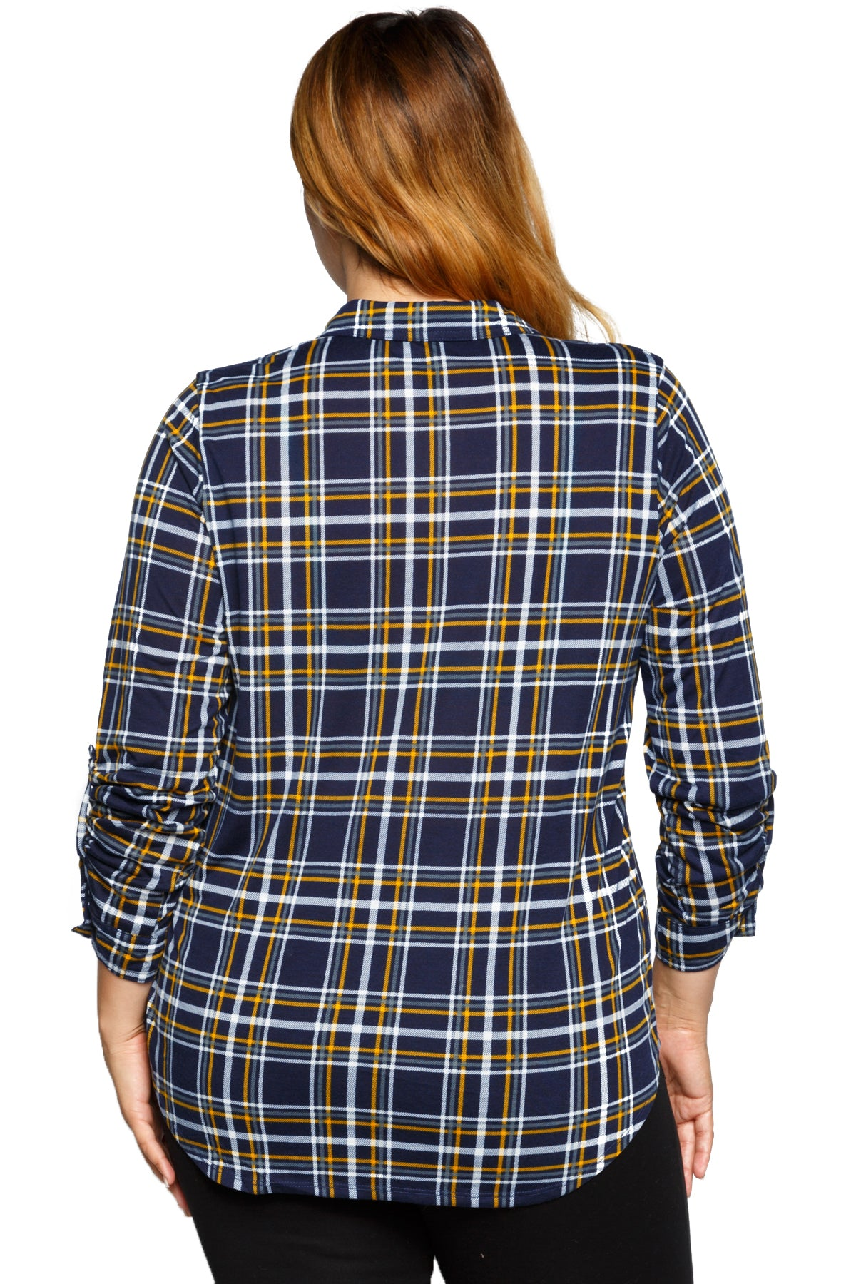 Long Sleeve Fashion Plaid Button Down Shirt