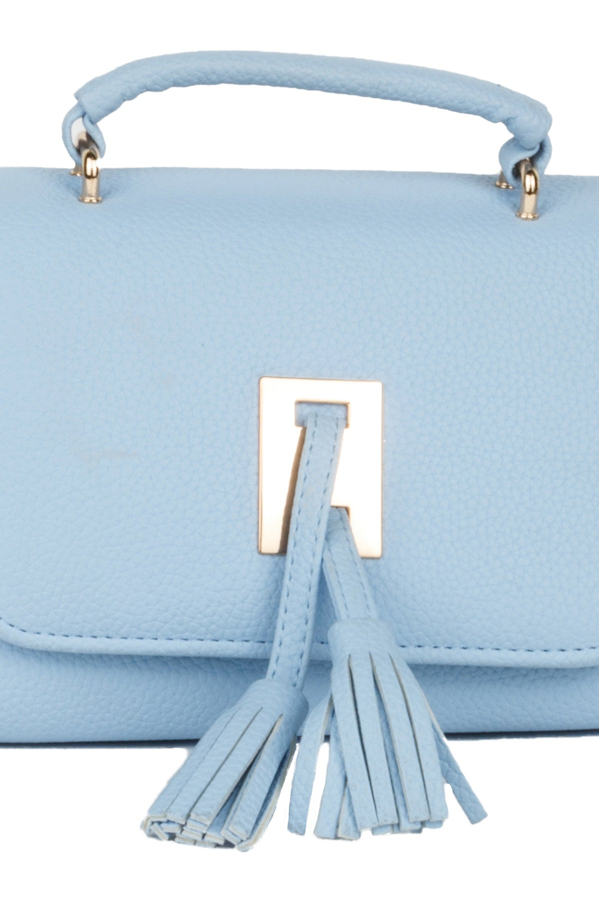 Small Fringe Detail Front Flap Handbag Purse