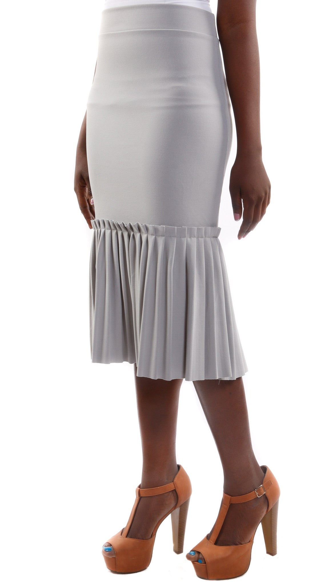 Katia Pleated Peplum Skirt