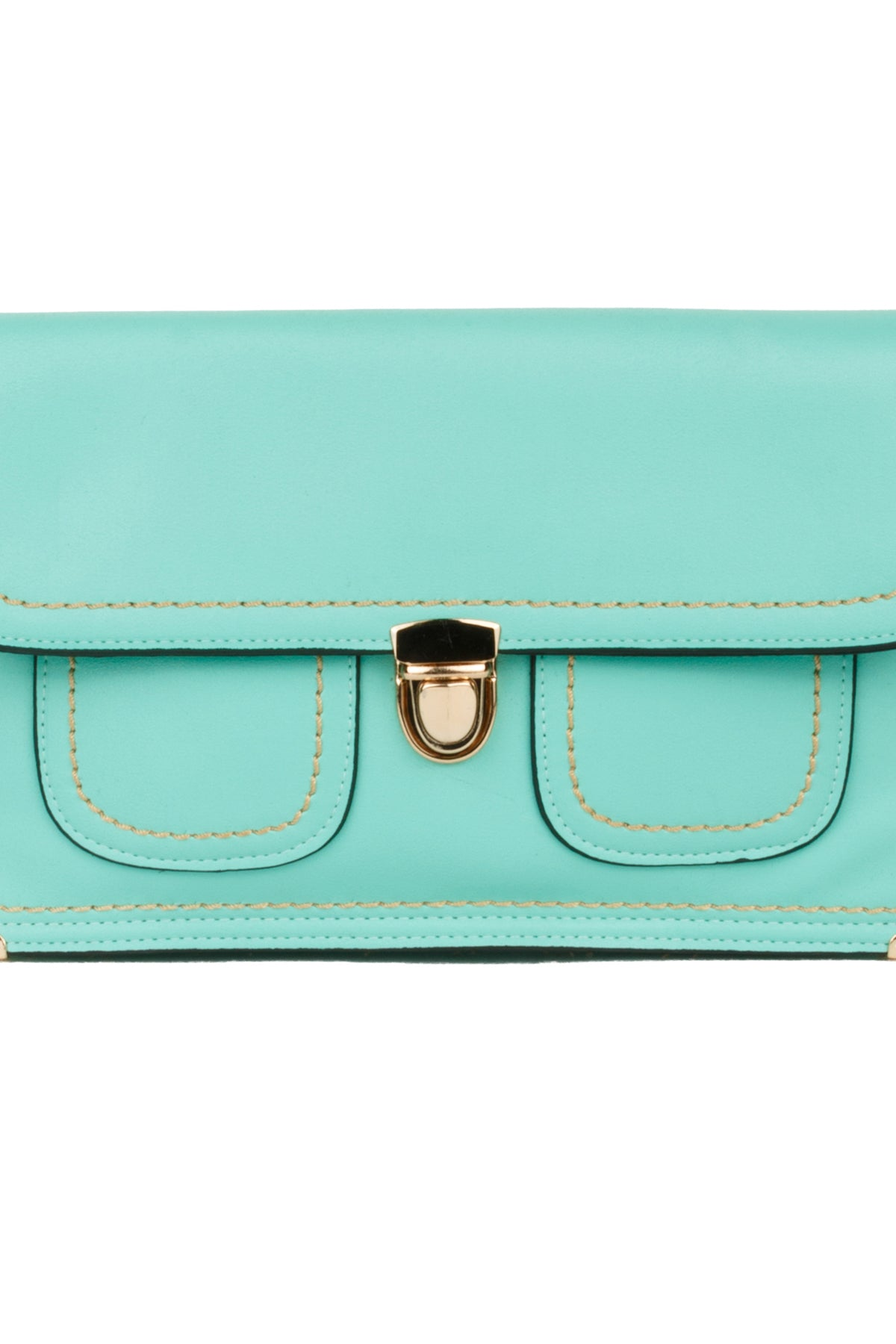 Front Flap Double Pocket Clutch Purse