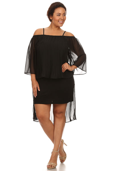 Plus Size Evening Off Shoulder Dress