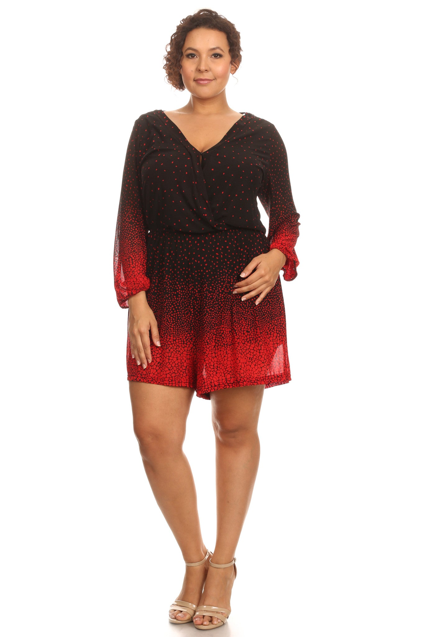 Plus Size Sexy Short Night Romper