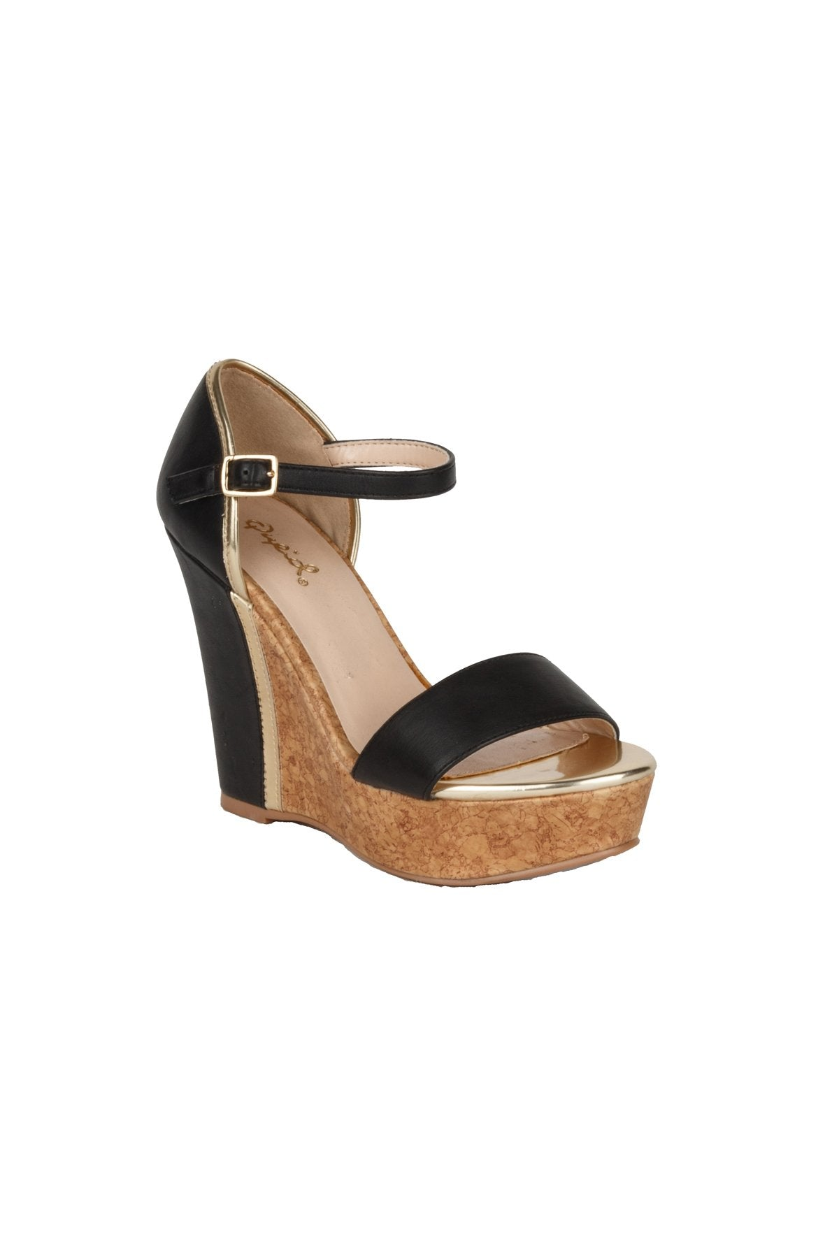 Ankle Strap High Heel Wedge Sandal