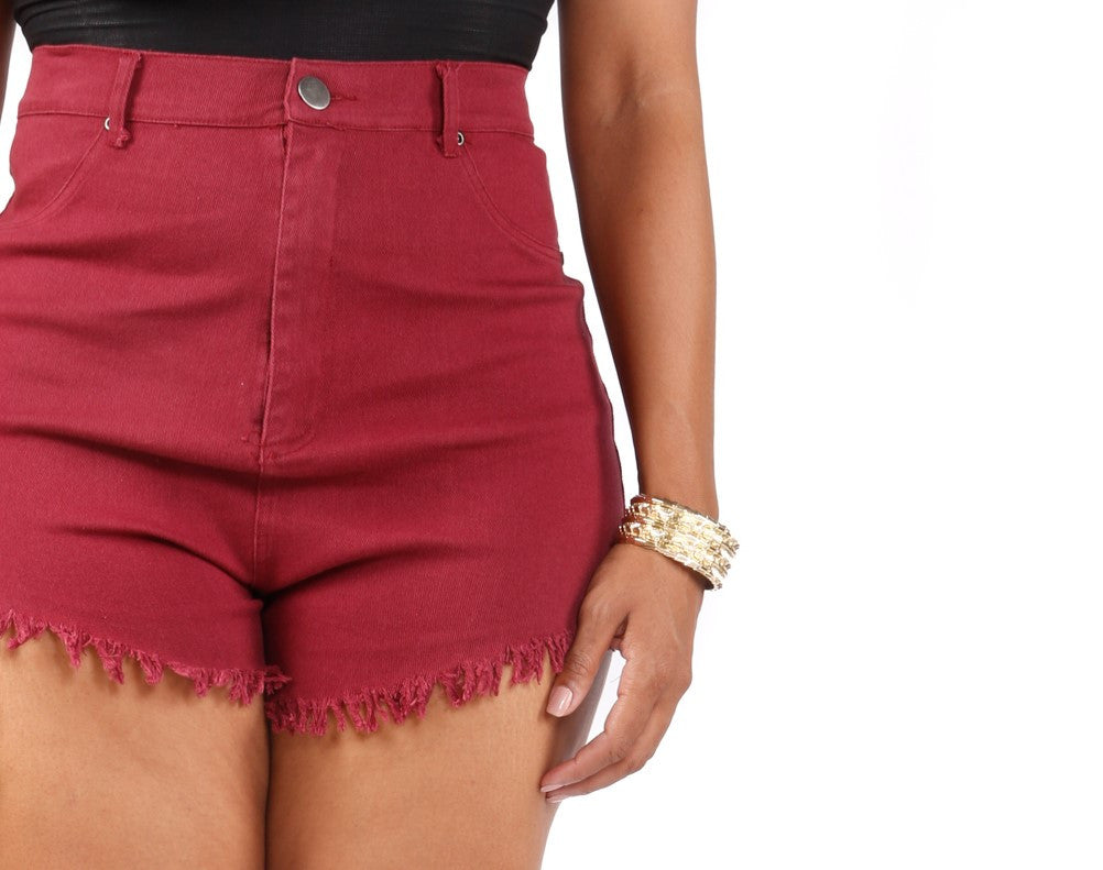 Plus Size High Rise Shorts