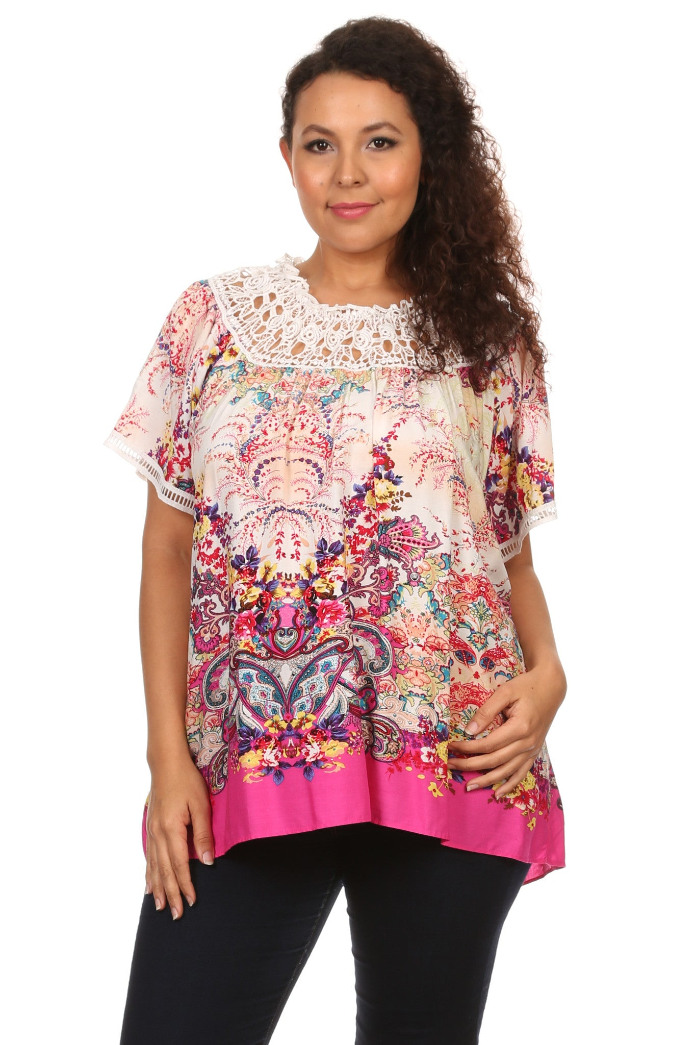 Plus Size Paisley Printed Blouse