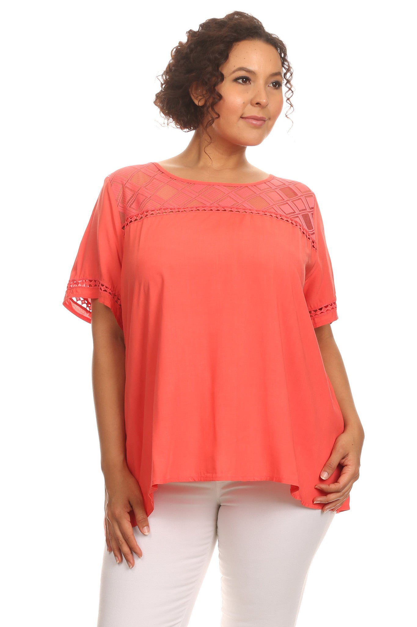 Plus Size Casual Short Sleeve Blouse