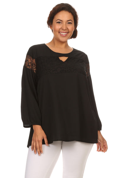 Plus Size Casual Chiffon Blouse