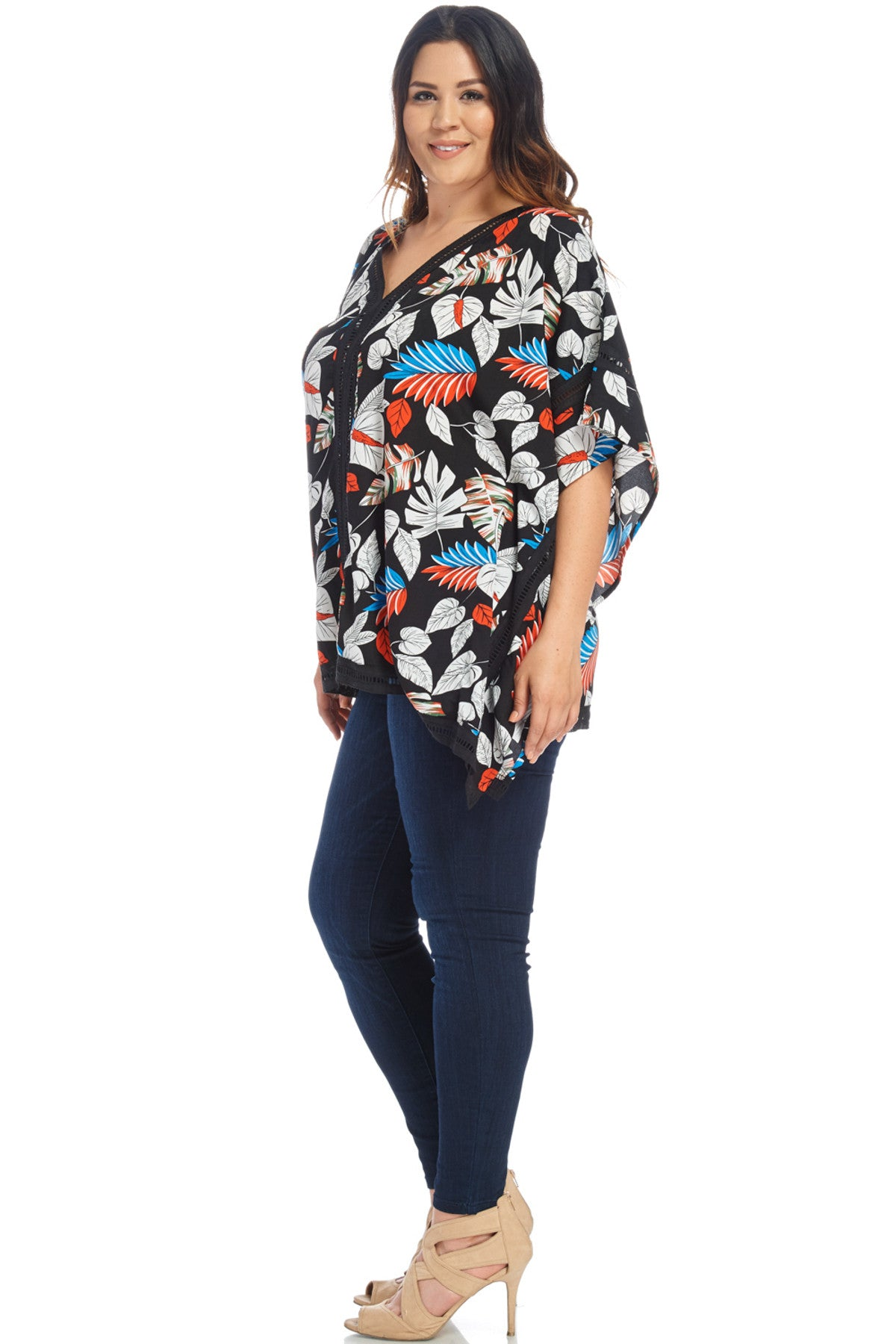 Plus Size Poncho Blouse Top