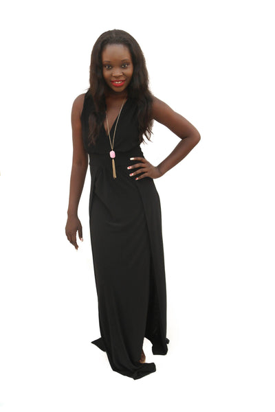Leah Sleeveless Side Slit Maxi Dress