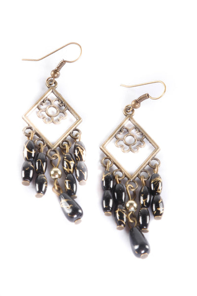 Beaded Mini Chandelier Fashion Earrings