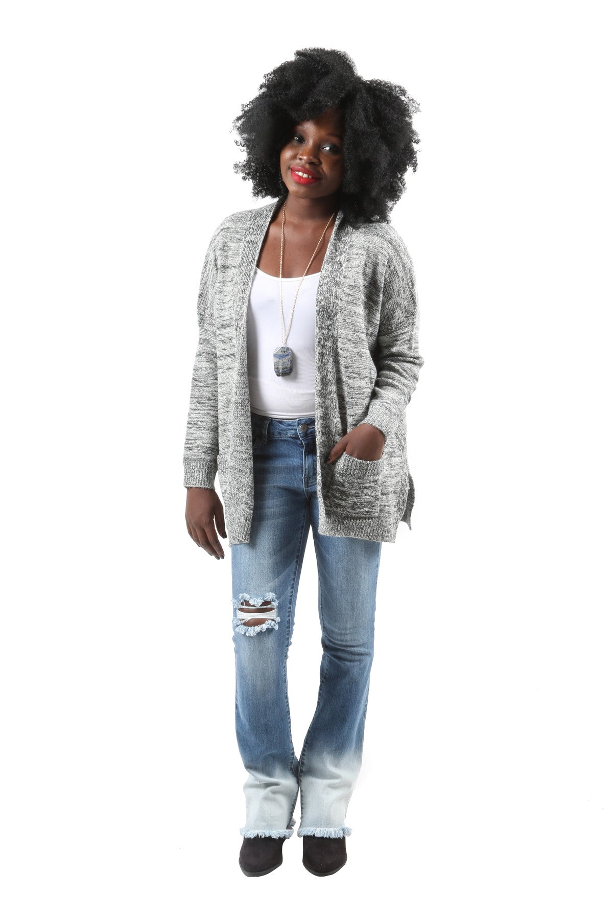 Lauren Open Front Cardigan