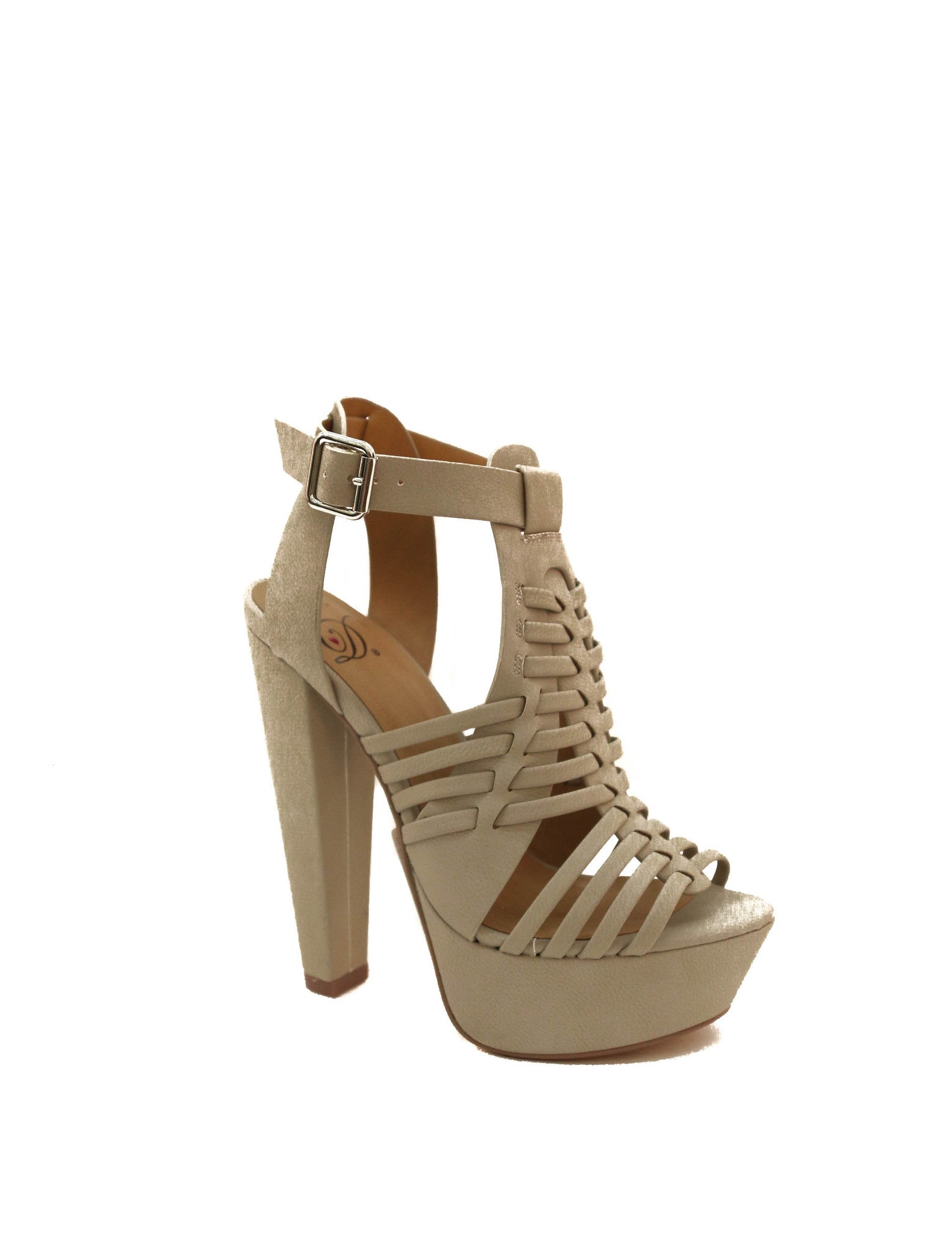 Sandy Cut Out Platform Pumps