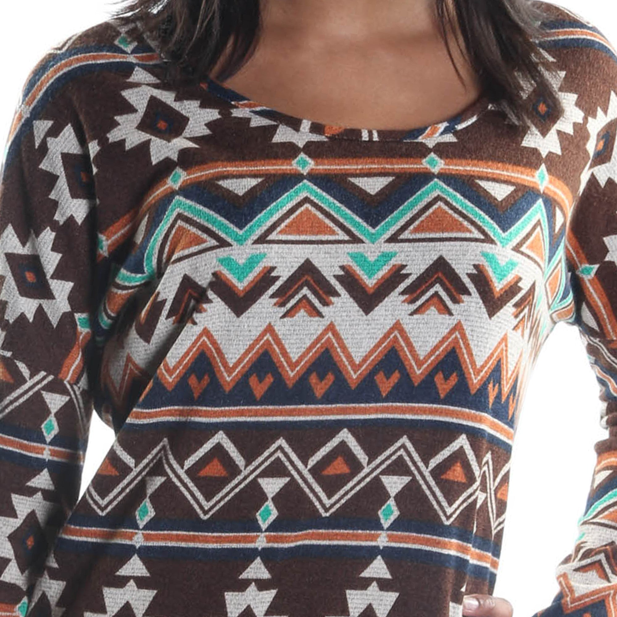 Chevron Print Tunic Top