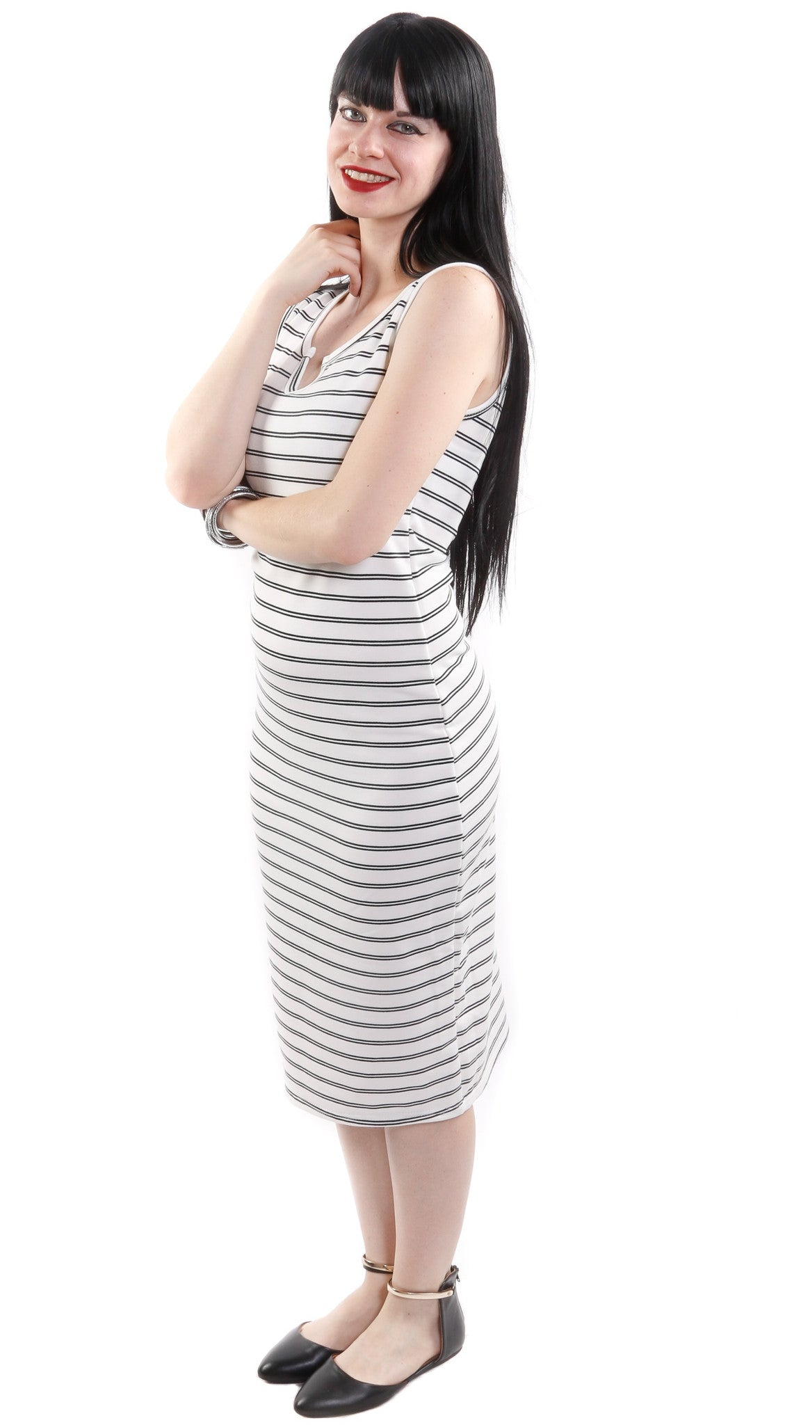 Jaimie Sleeveless Stripe Dress