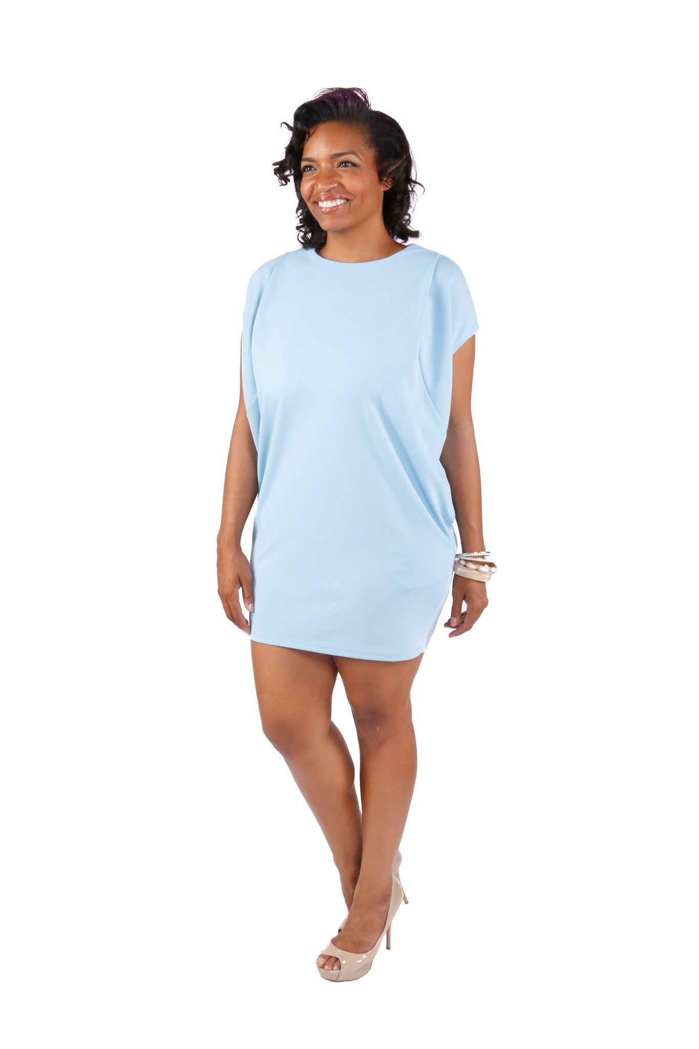 Plus Size Pleated Casual Dress